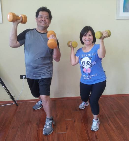 Couple Complete Shoulder Press Exercise