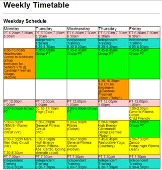 Impression of Family Fit Timetable